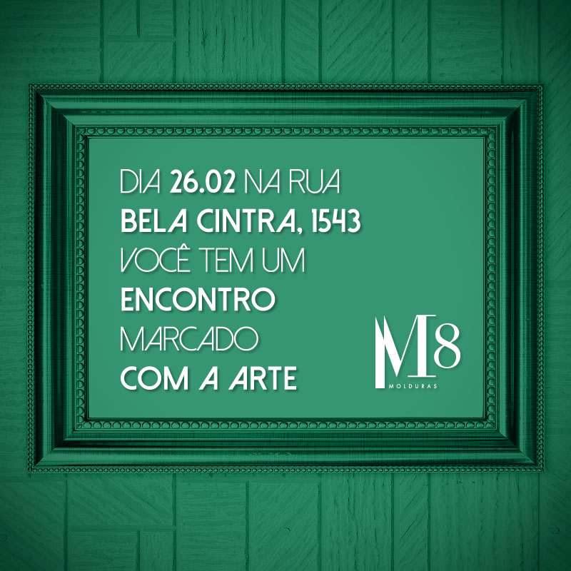 Vernissage M8: encontro da vida com a arte